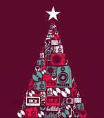 Christmas Music Objects Tree