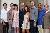LOS ANGELES - OCT 30:  M Weatherly, Brian Dietzen, P Perrette, Mark Harmon, Cote de Pablo, Sean Murr