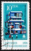 Постер, плакат: Почтовая марка ГДР 1974 тестирования электростанция
