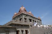 stock photo of swami  - Swami Vivekananda memorial temple in kanyakumari south India - JPG