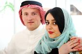 stock photo of soulmate  - Arabic couple - JPG