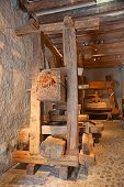 picture of wine-press  - Ancient wine press in the Aigle caszle - JPG