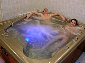 Couple And Jacuzzi poster