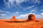 Monument Valley Buttes With Beautiful Sky poster