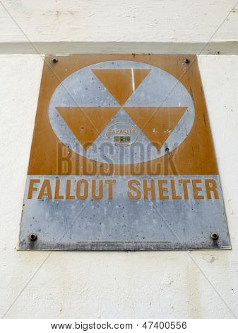 Old Fallout Shelter - Sign