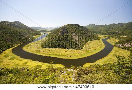 Crnojevica River in Montenegro