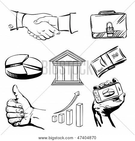 business icons set vector  illustration