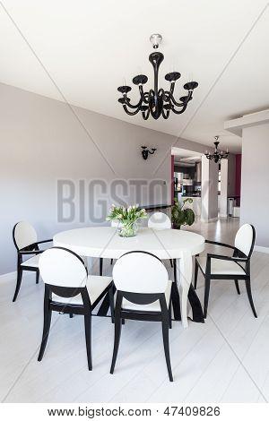 Vibrant Cottage - White Dining Room