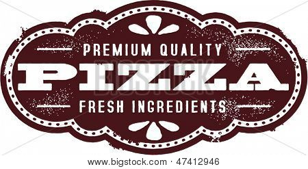 Vintage Pizza Sign Clip Art