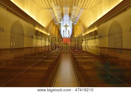 Beautiful Interior of St Theresa cathedral Chennai