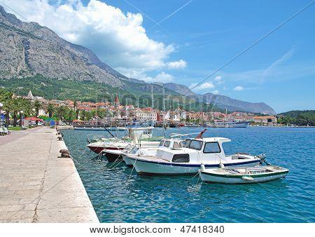 Makarska Town at Makarska Riviera,Croatia