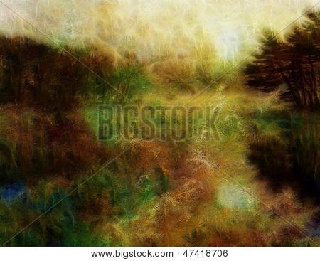 Painterly Water Landscape