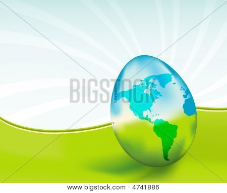 Glass Earth Egg