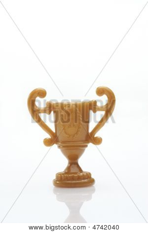 Trophy Over White Background