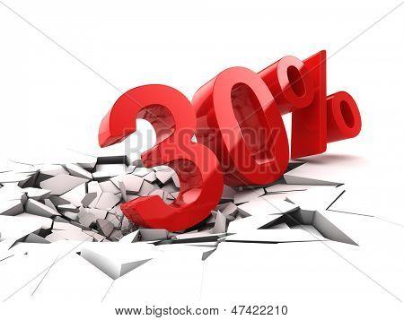 30 percent discount breaks ground