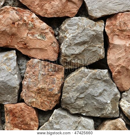 Rough Hewn Stone Forming A Wall