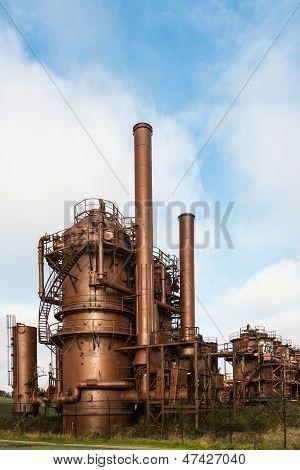 Abandoned Gas Production Plant