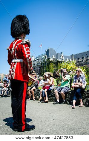 Drummer entertains the crowd in Victoria BC on Canada Day