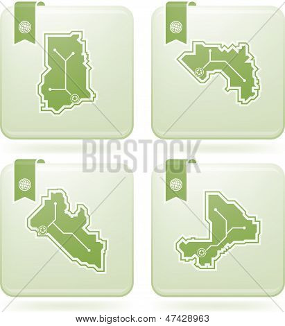 Simple Country Icons