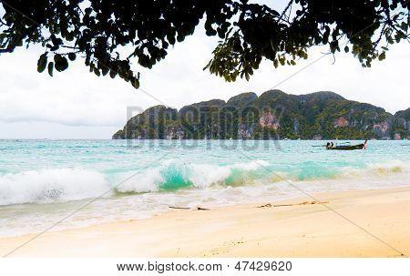 Low Season Resort Waves Gushing