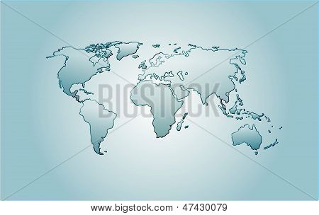Vector Glass World Map