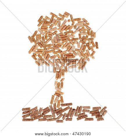 Tree Of Wood Pellet