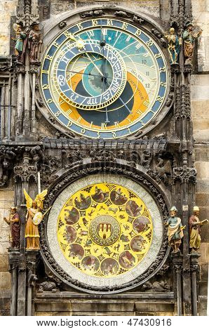 Tawn Hall Orloj In Praha, Close-up