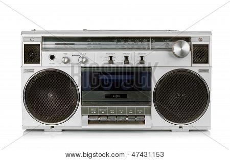 Gravador de fita cassete portátil rádio Vintage