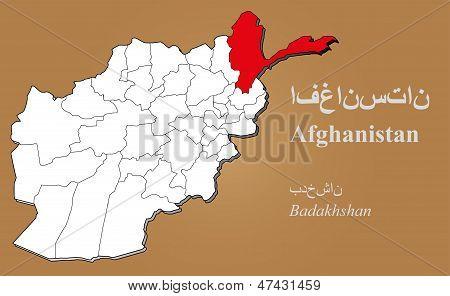 Afghanistan Badakhshan Highlighted