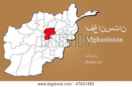 Afghanistan Bamiyan Highlighted