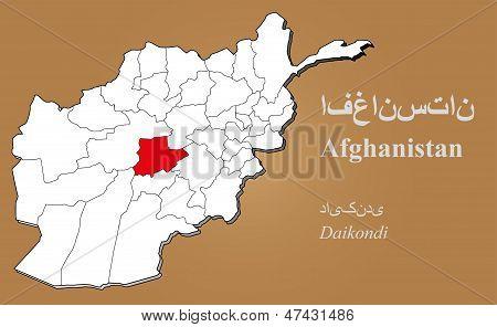 Afghanistan Daikondi Highlighted