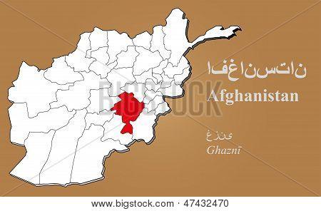 Afghanistan Ghazni Highlighted