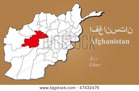 Afghanistan Ghur Highlighted