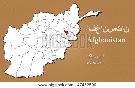 Afghanistan Kapisa Highlighted