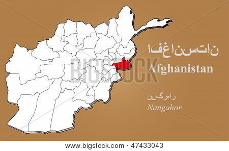 Afghanistan Nangahar Highlighted