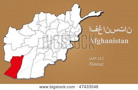 Afghanistan Nimruz Highlighted