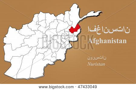 Afghanistan Nuristan Highlighted