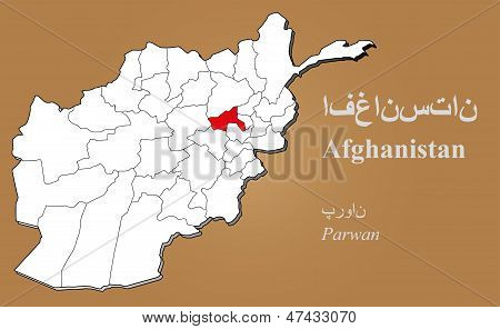 Afghanistan Parwan Highlighted
