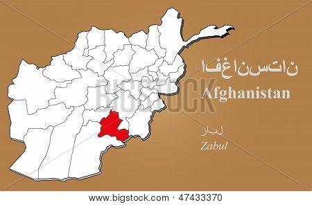 Afghanistan Zabul Highlighted