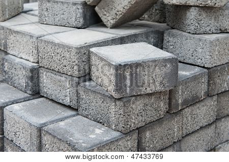 Gray Square Pavement Bricks
