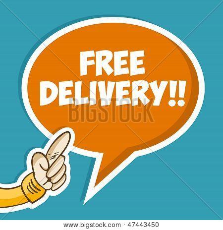 Mão com bolha entrega gratuita