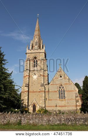 Madresfield Church and spire