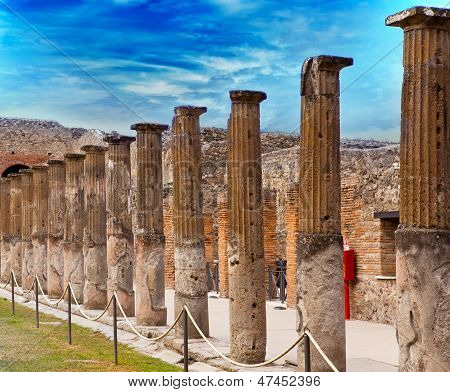 Italy. Ruins of Pompey