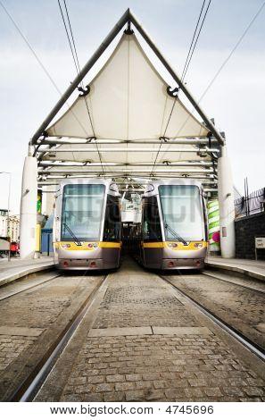 Luas - Dublin City Light Rail Public Transport Trams