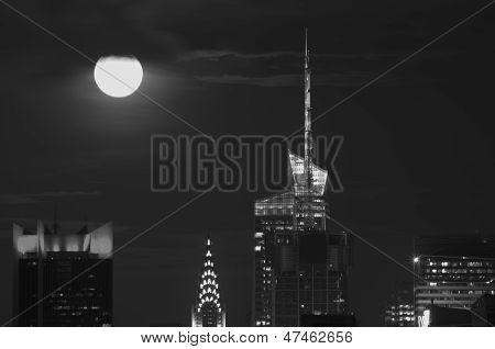 Manhattan Supermoon!!