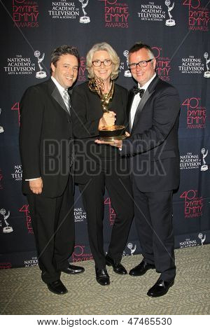 BEVERLY HILLS - JUN 16: The Ellen DeGeneres Show producers with the Outstanding Talk Show-Entertainment award at the 40th Annual Daytime Emmy Awards on June 16, 2013 in Beverly Hills, California