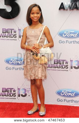 LOS ANGELES - JUN 30: Quvenzhane Wallis at the 2013 BET Awards at Nokia Theater L.A. Live on June 30, 2013 in Los Angeles, California