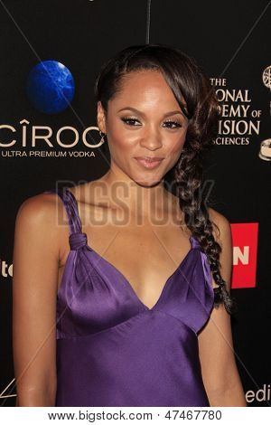 BEVERLY HILLS - JUN 16: Sal Stowers, All My Children at the 40th Annual Daytime Emmy Awards at The Beverly Hilton Hotel on June 16, 2013 in Beverly Hills, California