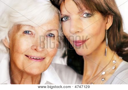 Senior Mother And Mature Daughter
