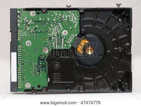 3.5 Inch Harddisk Drive (hdd) Isolated On White Background